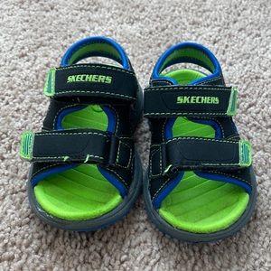 Skechers sandals baby boys 5 blue green